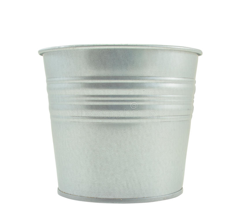 Vasi di alluminio dell'albero, bianco isolato fotografie stock