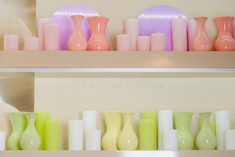 Vasi e candele fotografia stock