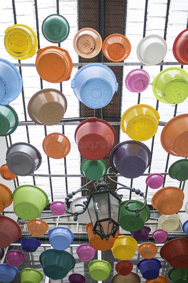 Vasi sul tetto fotografie stock