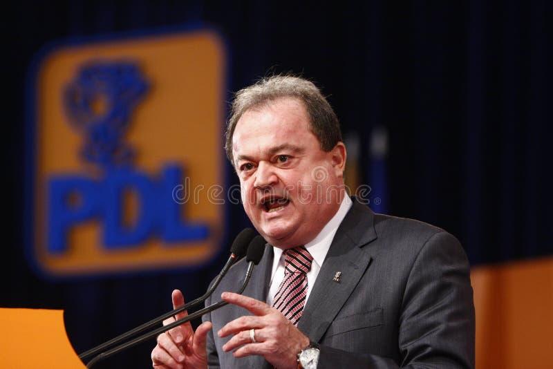 Vasile Blaga Holding um discurso imagens de stock royalty free