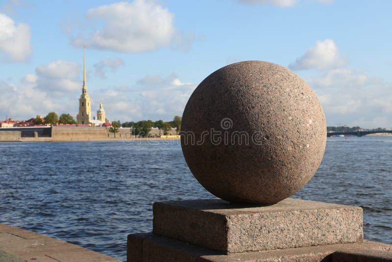 Vasilevsky-Insel, St Petersburg, Russland stockbild