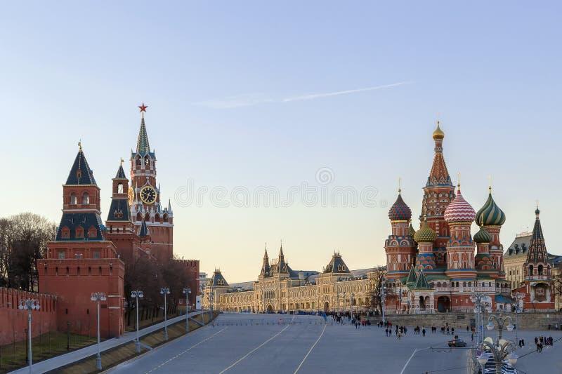 Vasilevsky Spusk (κάθοδος βασιλικού Αγίου), Μόσχα, Ρωσία στοκ φωτογραφία με δικαίωμα ελεύθερης χρήσης