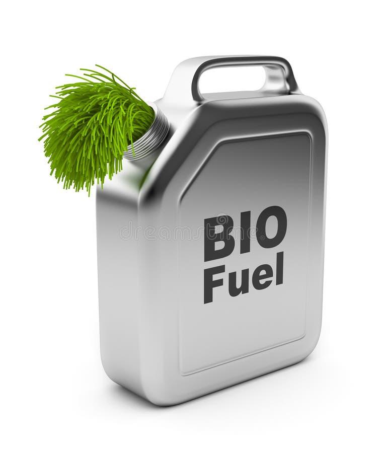 Vasilha com BIO combustível 3D. Energia alternativa ilustração stock