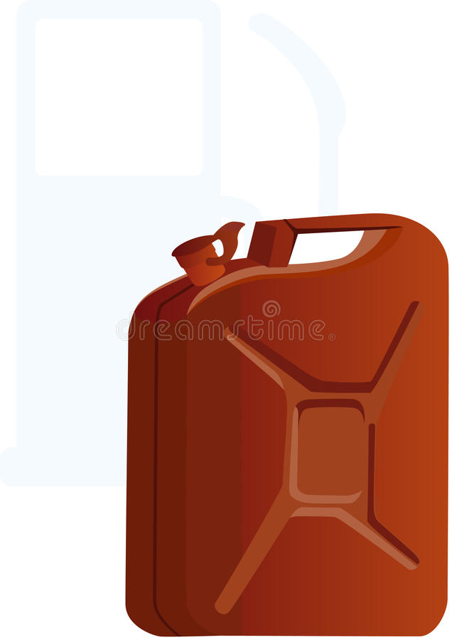 Vasilha da gasolina ilustração stock