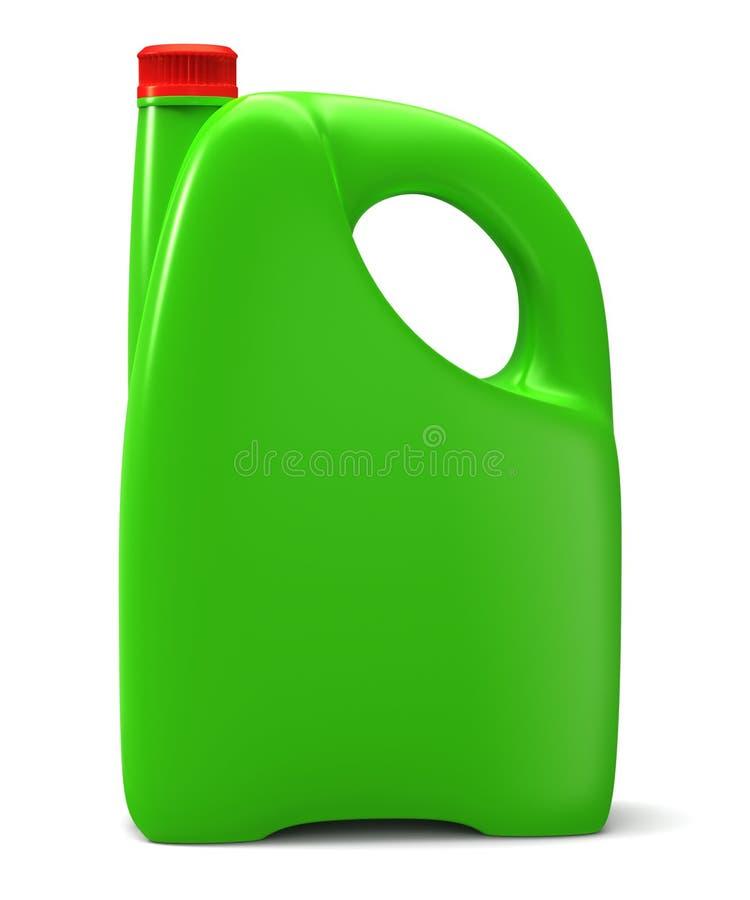 Vasilha plástica verde ilustração do vetor