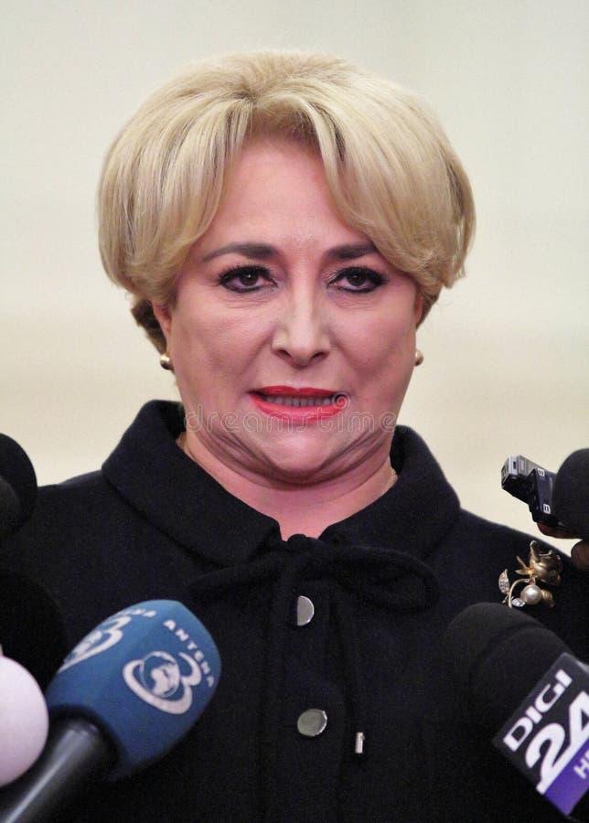 Vasilica Viorica Dancila - le premier premier ministre féminin du RO photos libres de droits