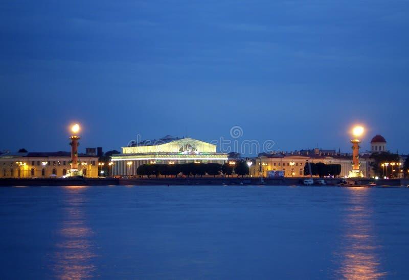 vasilievsky海岛的唾液 库存照片