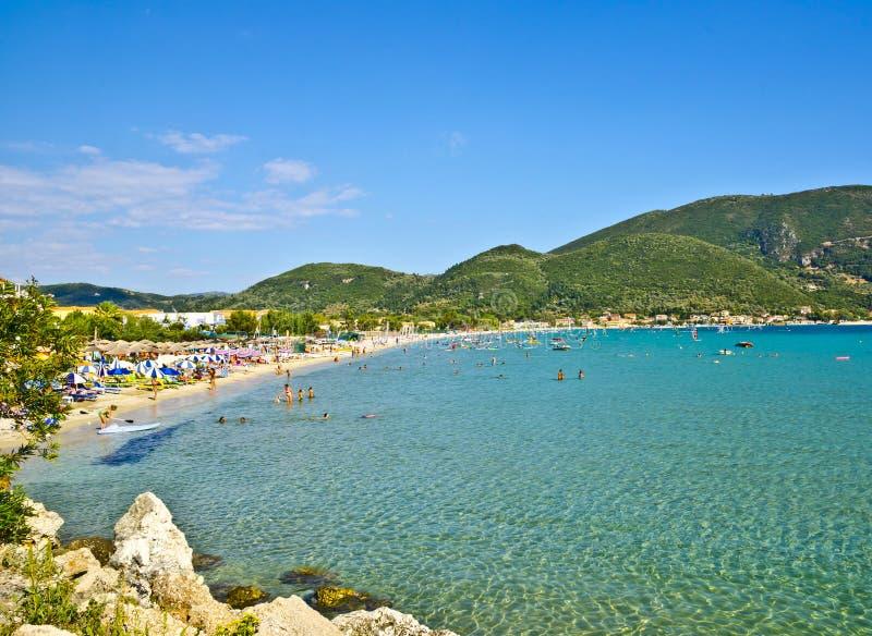 Vasiliki Ponti Beach, het Eiland van Lefkada, Griekenland royalty-vrije stock foto