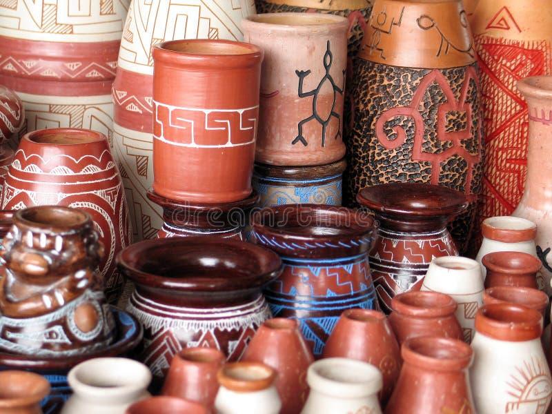 Vaso aborigeno fotografia stock