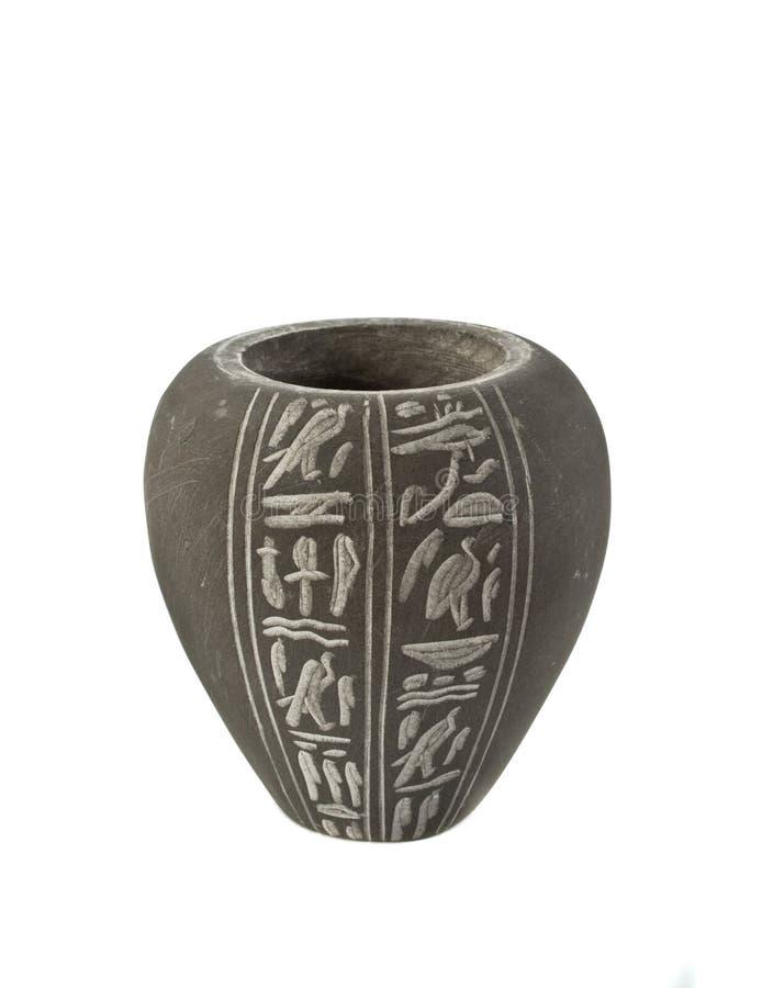Vaso antico dall'Egitto fotografia stock libera da diritti