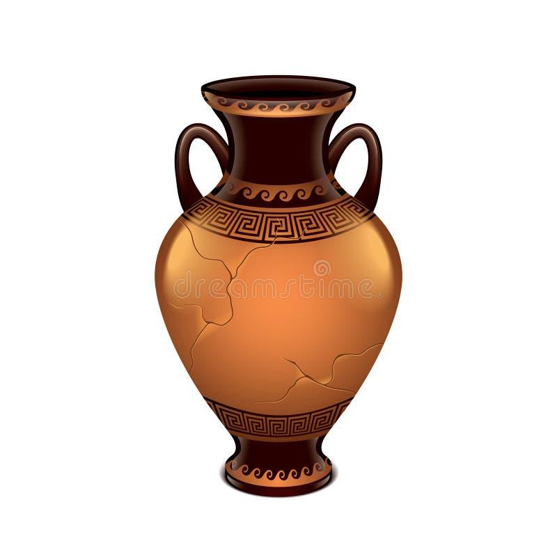 Vaso antico isolato sul vettore bianco illustrazione for Vaso greco antico