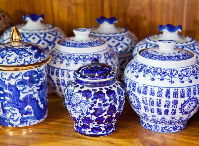 Vaso antigo chinês fotografia de stock