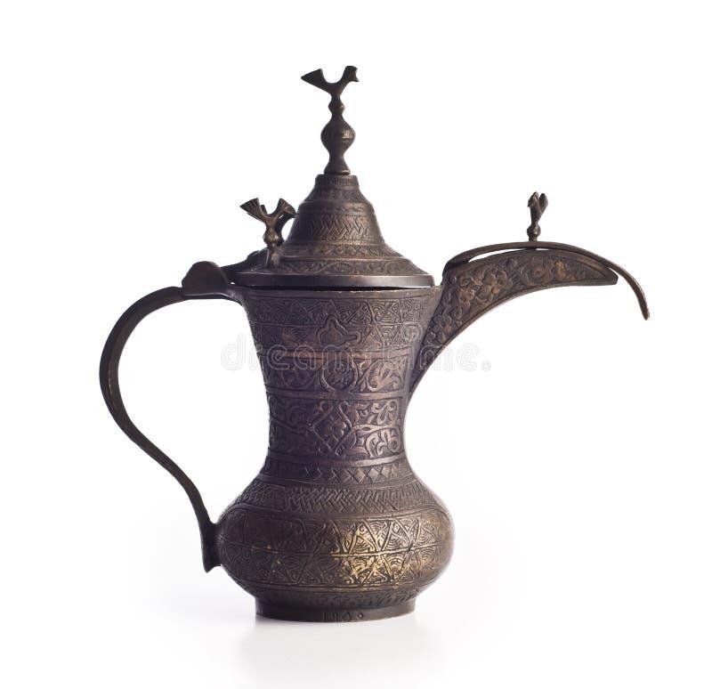 Vaso arabo del caffè immagini stock libere da diritti