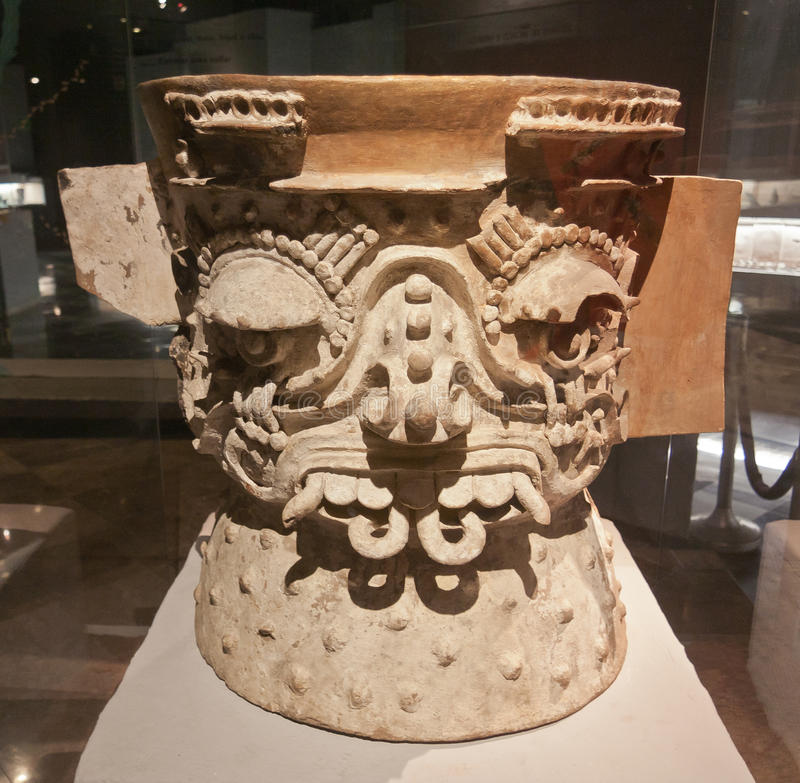 Vaso azteco cerimoniale fotografia stock libera da diritti