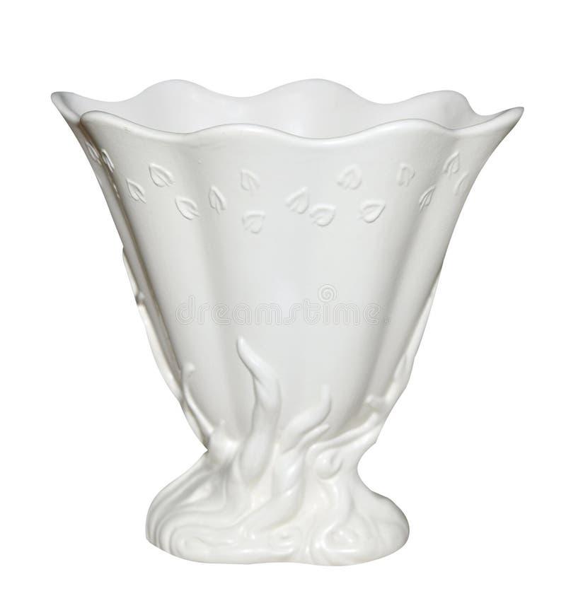 Vaso bianco antico fotografie stock