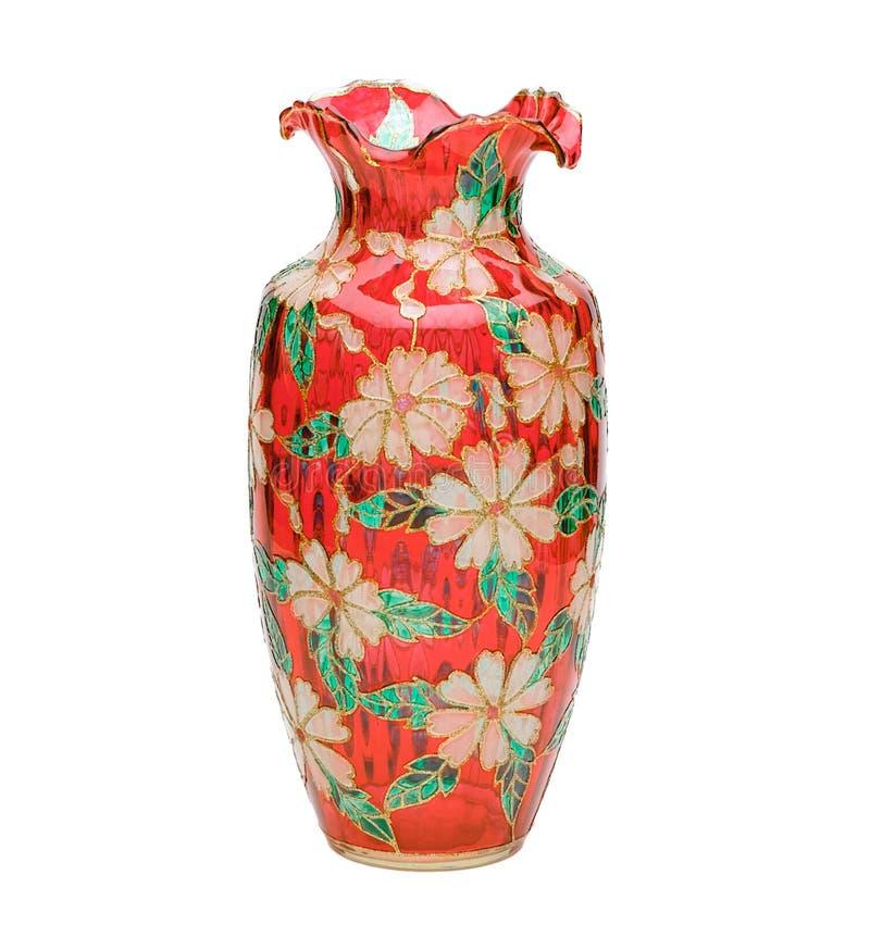 Vaso bonito do vidro manchado fotografia de stock royalty free