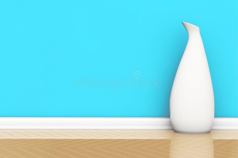 Vaso branco em um assoalho ilustração royalty free