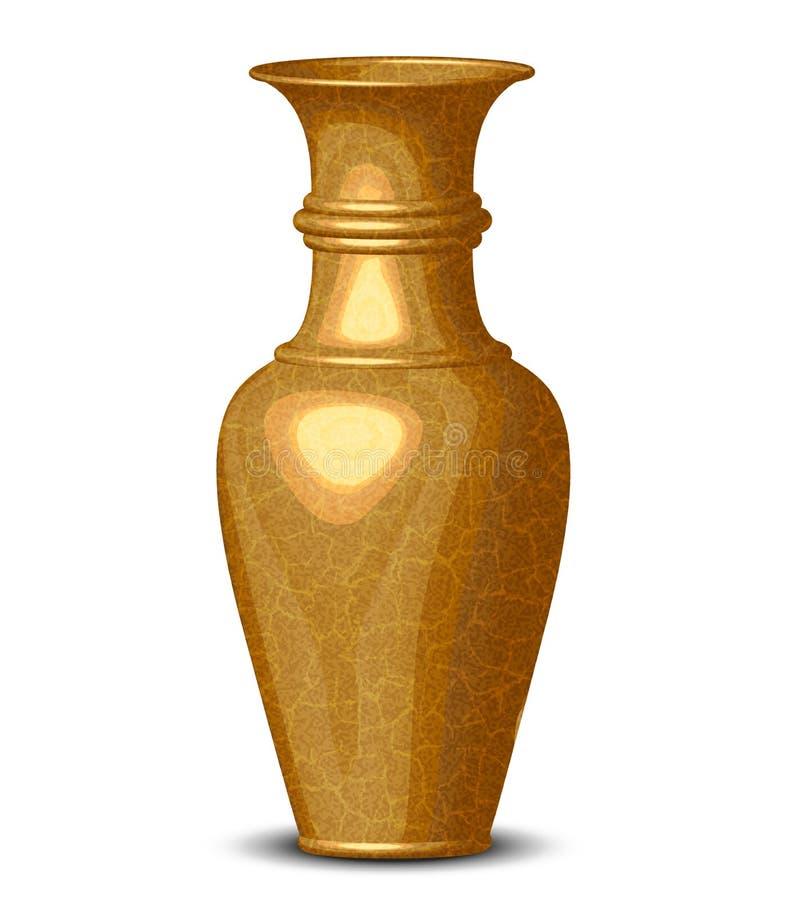 Vaso brilhante dourado ilustração do vetor