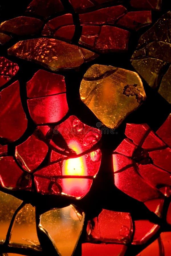 Vaso caseiro do vidro manchado fotografia de stock