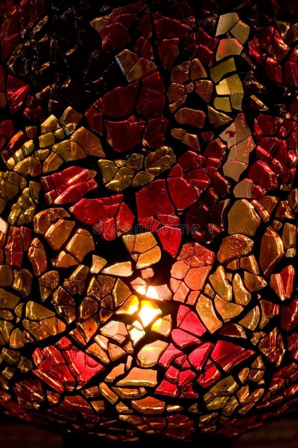 Vaso caseiro do vidro manchado fotos de stock royalty free