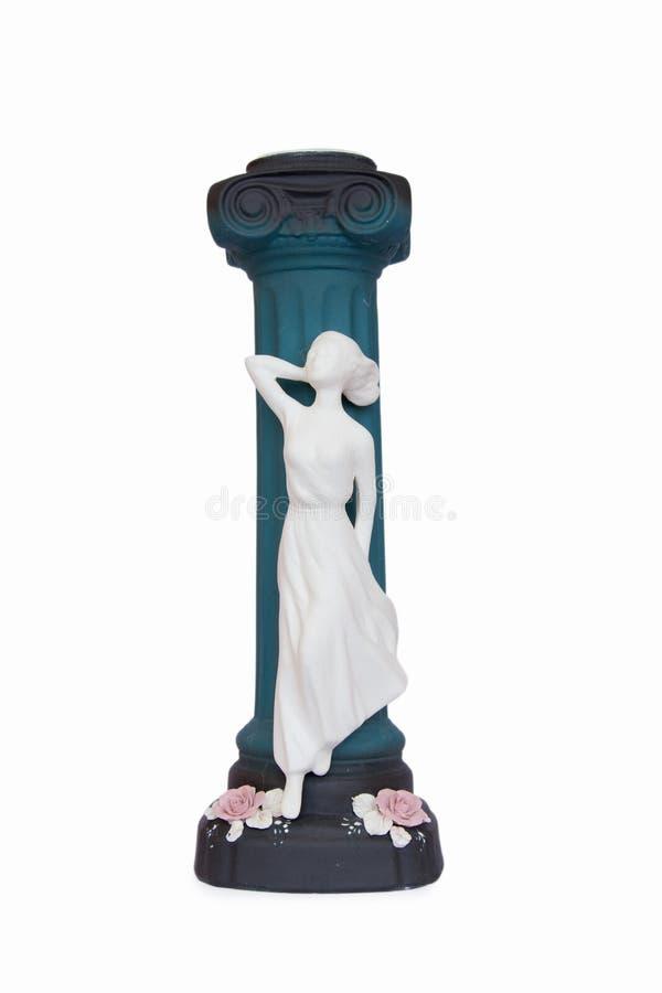 Vaso cerâmico com uma figura da menina fotografia de stock royalty free