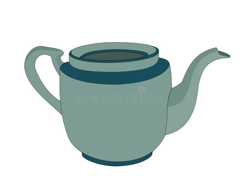 Vaso ceramico del tè illustrazione di stock