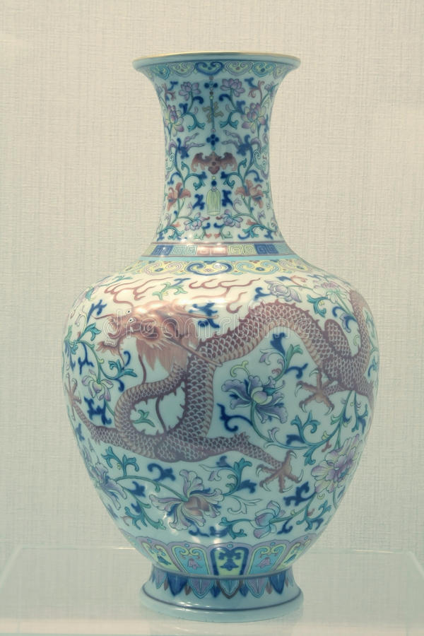 Vaso chinês da porcelana imagem de stock royalty free
