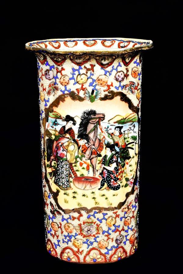 Vaso cinese ceramico fotografia stock
