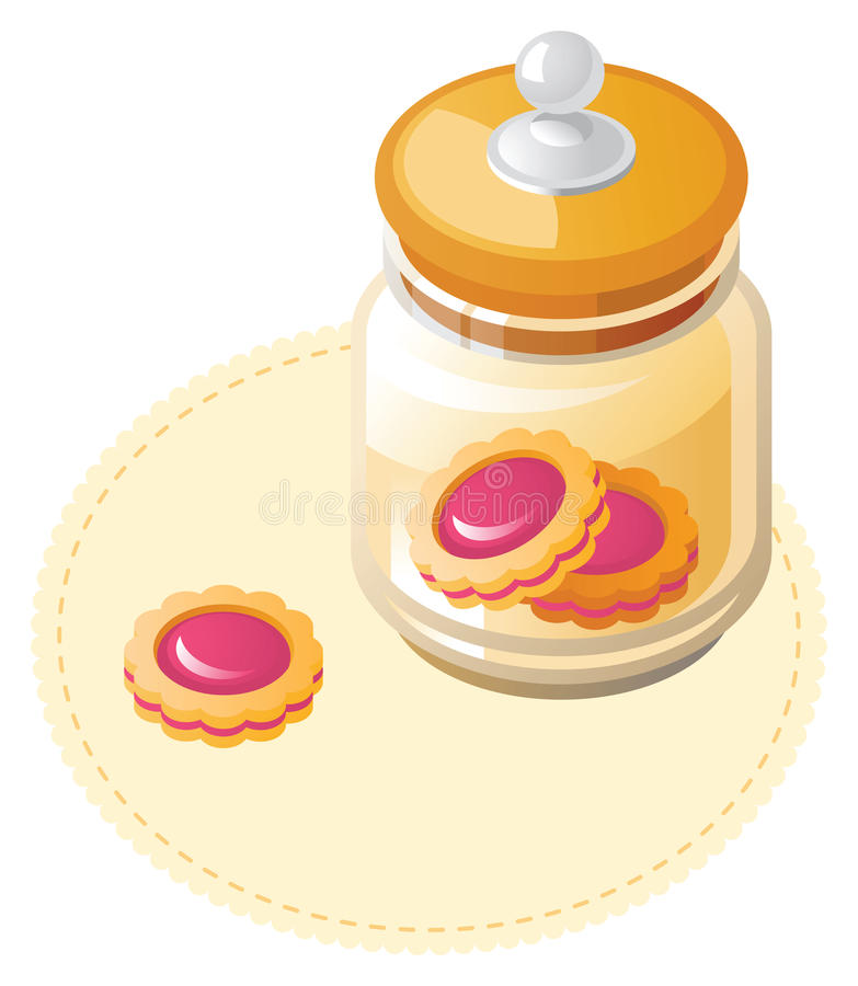Vaso con i biscotti illustrazione vettoriale