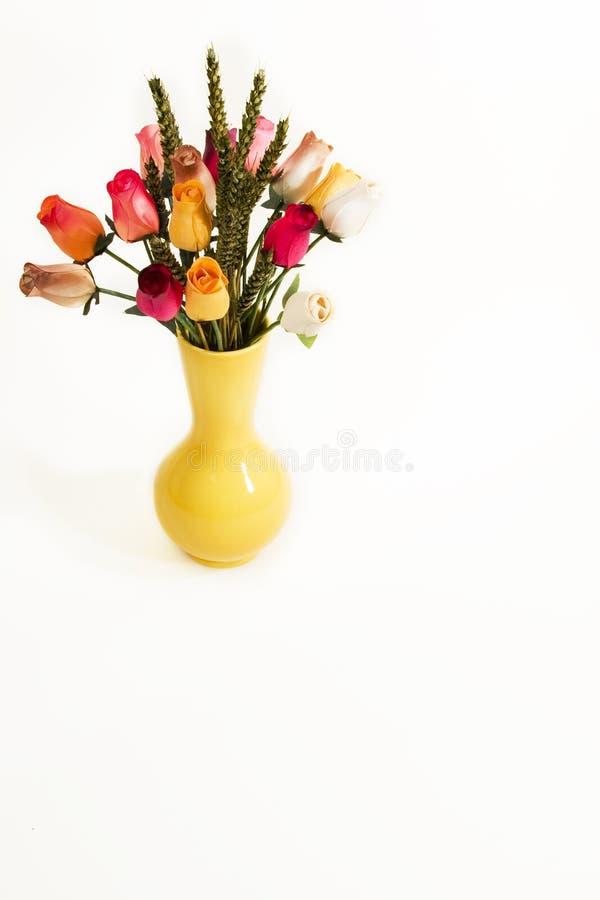 Vaso con i fiori fotografia stock libera da diritti