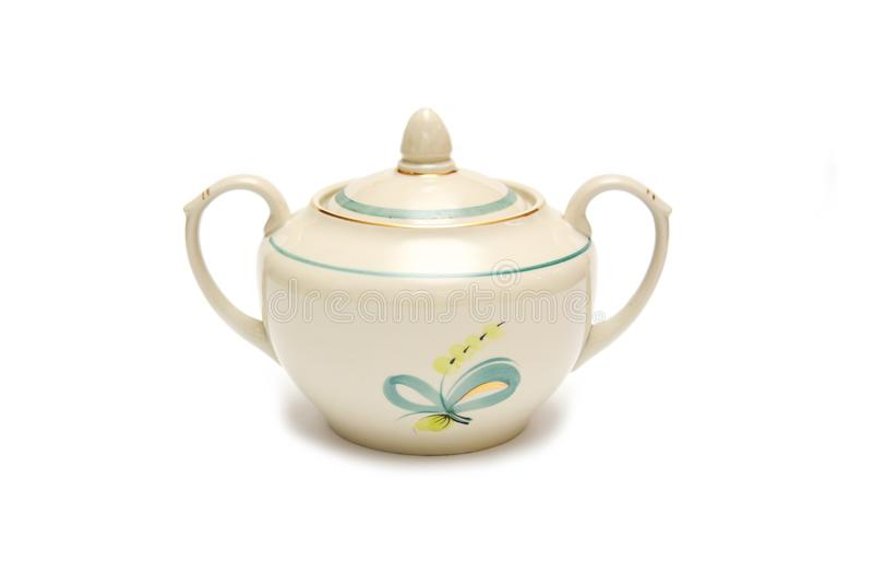 Vaso da porcelana para o açúcar fotos de stock royalty free