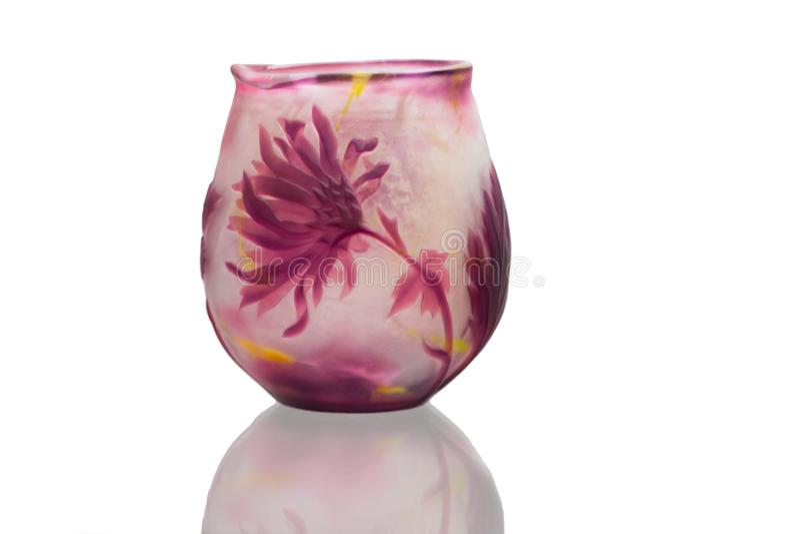 Vaso de vidro no fundo branco fotos de stock