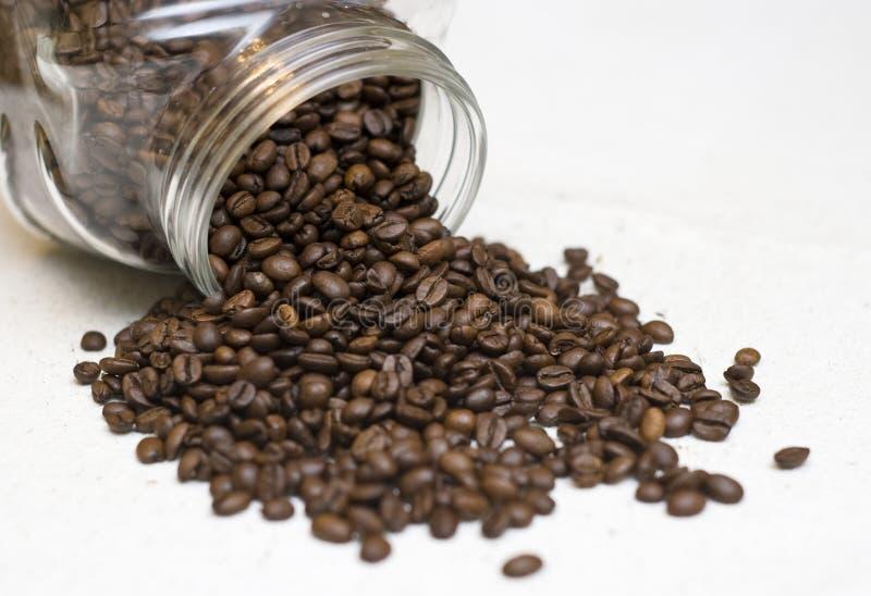 Vaso dei chicchi di caffè. fotografie stock