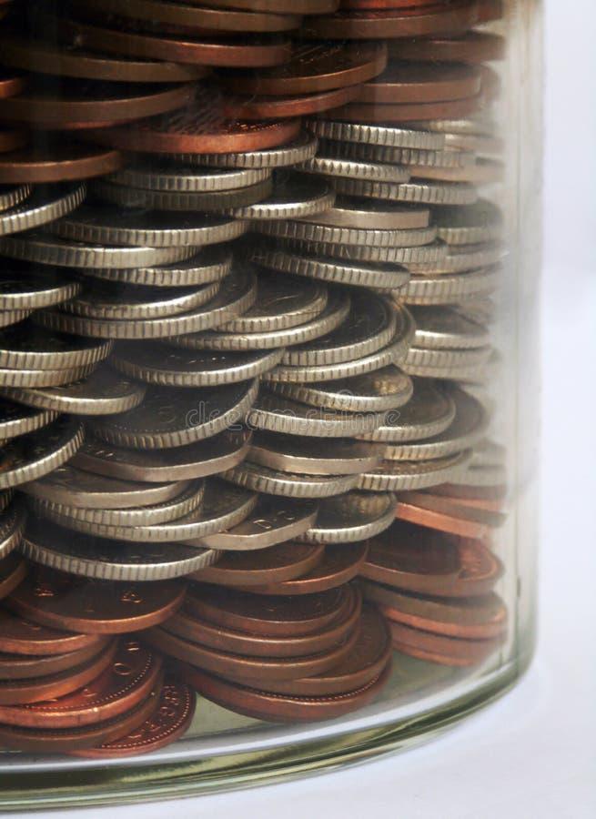Vaso dei soldi fotografia stock libera da diritti