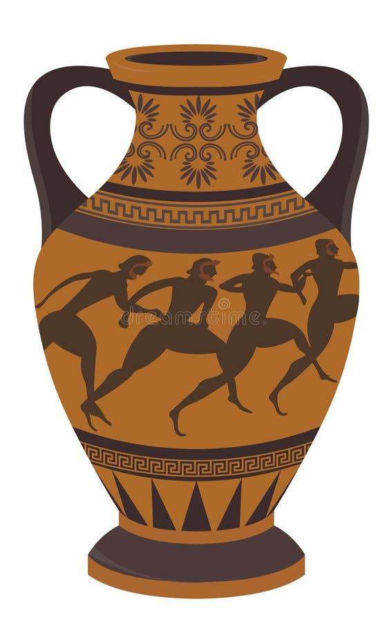 Vaso greco illustrazione vettoriale immagine di disegno for Vaso greco antico