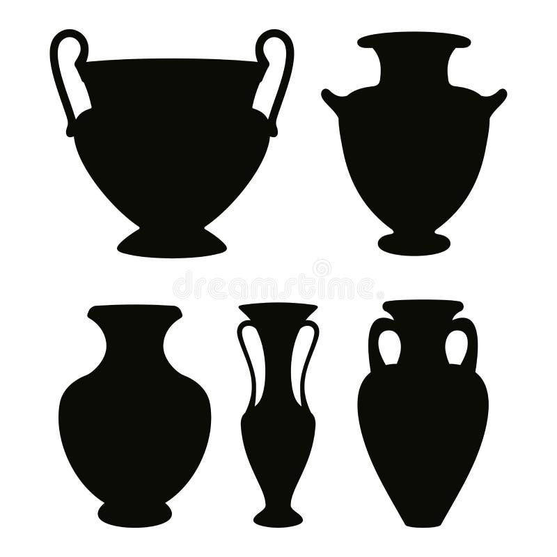 Vaso del Greco di vettore illustrazione di stock