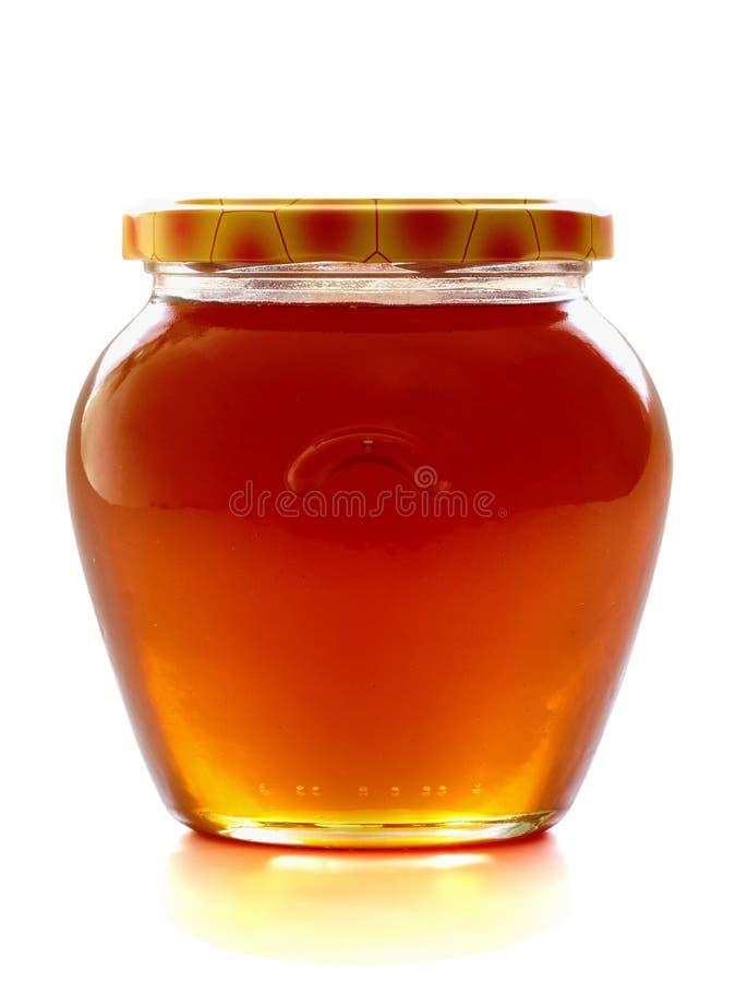 Vaso del miele. fotografia stock