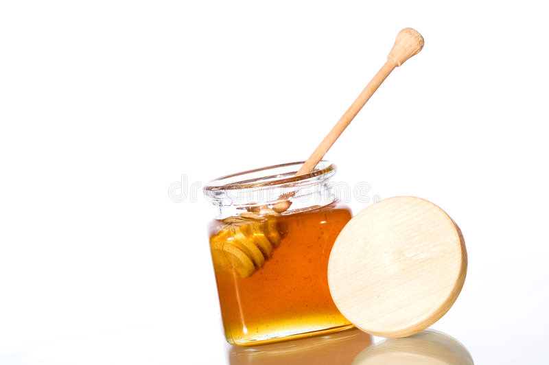 Vaso del miele immagini stock libere da diritti