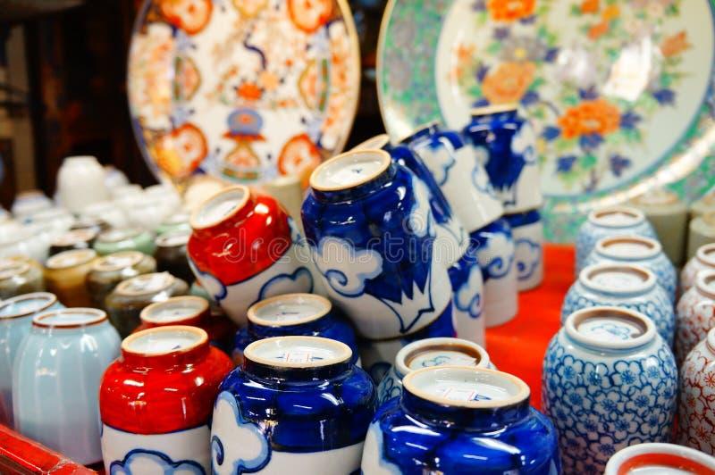 Vaso di argilla giapponese fotografie stock libere da diritti
