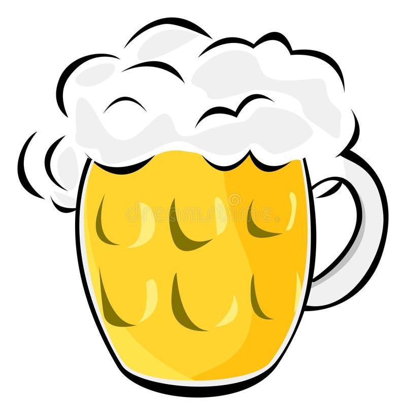 Vaso di birra illustrazione di stock