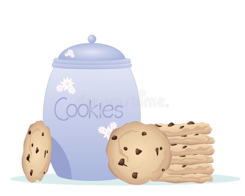Vaso di biscotto illustrazione vettoriale