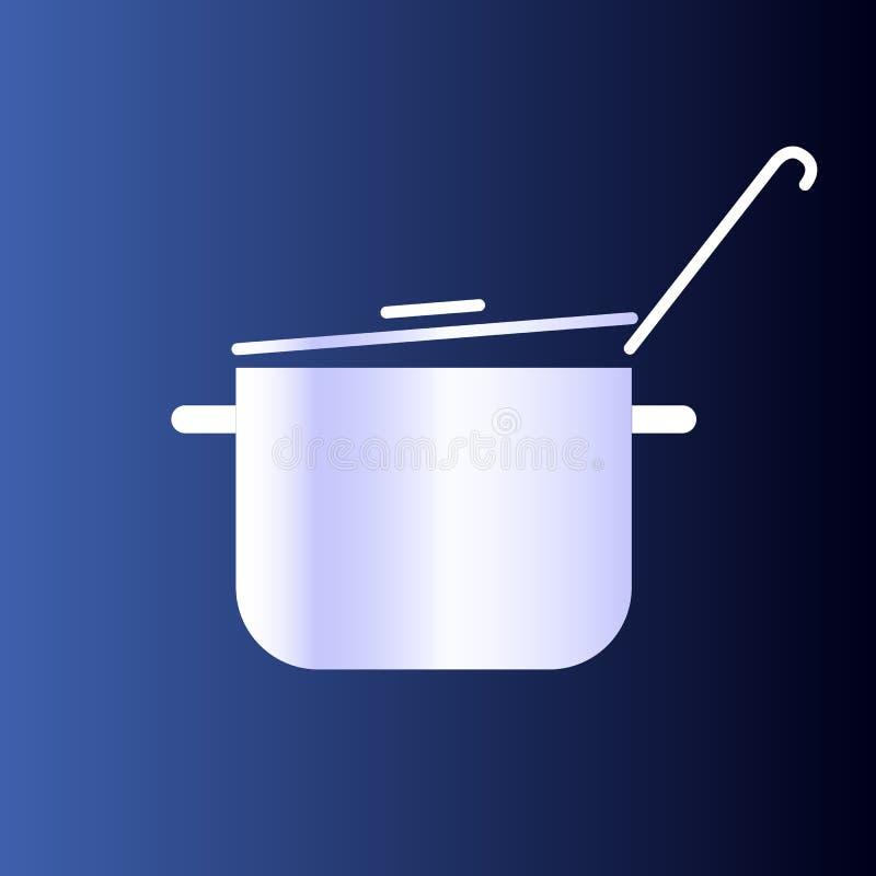 Vaso di cottura d'acciaio Alimento sano della preparazione cottura illustrazione di stock