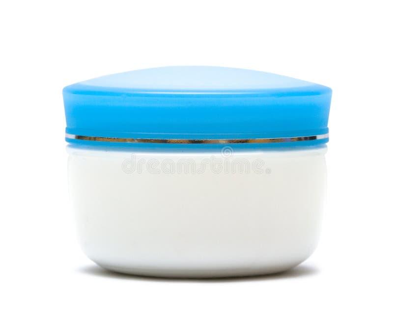 Vaso di crema isolato fotografie stock libere da diritti