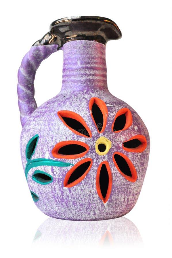 Vaso di fiore messicano variopinto immagini stock libere da diritti