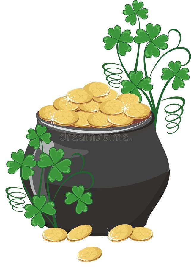 Vaso di oro illustrazione di stock