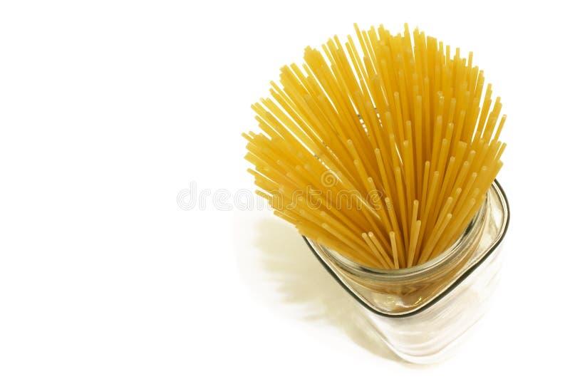 Vaso di spaghetti fotografie stock