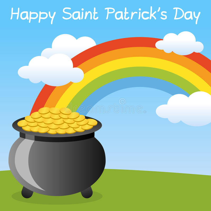 Vaso di St Patrick s di oro felice
