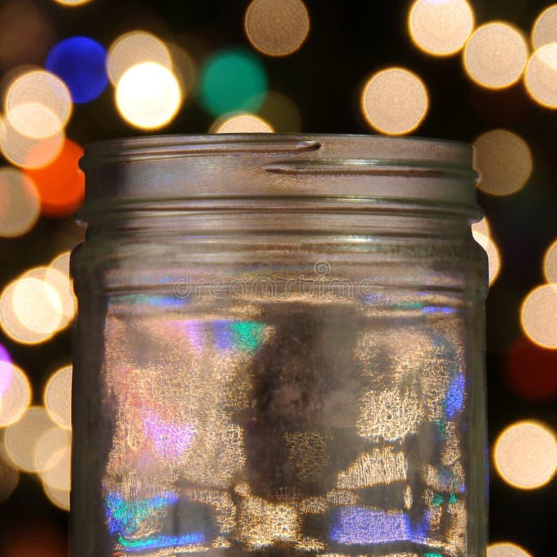 Vaso di vetro magico immagine stock