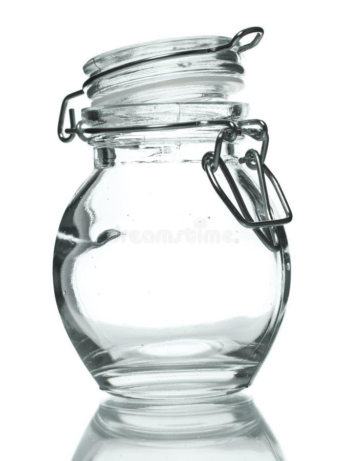 Vaso di vetro per la spezia fotografia stock libera da diritti