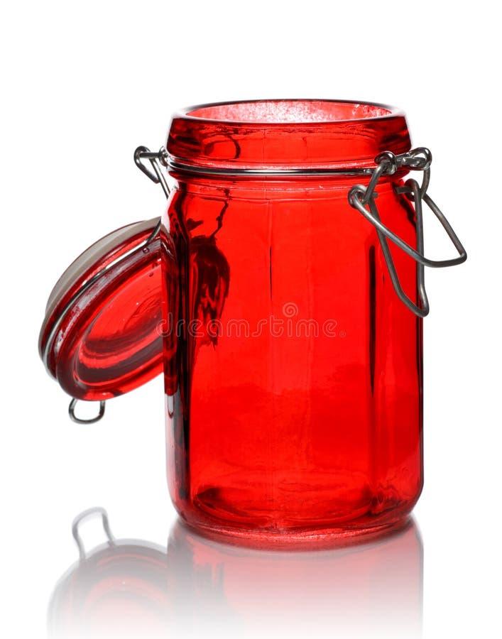 Vaso di vetro per la spezia immagine stock libera da diritti